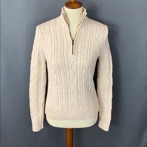 Cute 3/4 zipped sweater